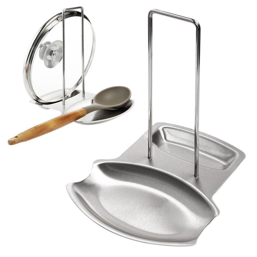 Scaffali da cucina, acciaio inossidabile 304 Pot rack Rack rack Addensare Antiscivolo Impermeabile Facile da pulire (dimensioni : 18.7x15.7x20.5) yiqi