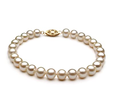 20ca01e3e0def White 6-7mm AA Quality Freshwater Cultured Pearl Bracelet for Women