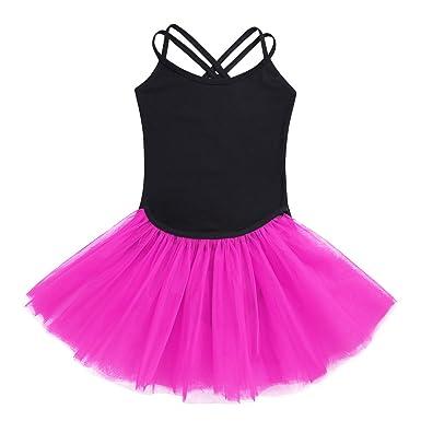 iiniim Robe de Danse Classique Enfant Fille Jupe de Ballet Danse Tutu et  Justaucorps Danse Gymnastique 8f90ceefcc8