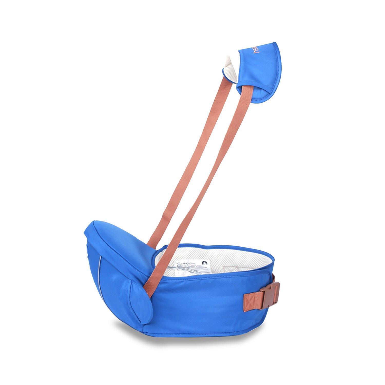 SONARIN Premium Hipseat Baby Carrier Babytrage, Sicher und Komfortabel, Freie Größe, Vorderer Träger Gürtel, 4 tragende Positionen,100% GARANTIE und FREIE LIEFERUNG, Ideales Geschenk(Blau) Freie Größe