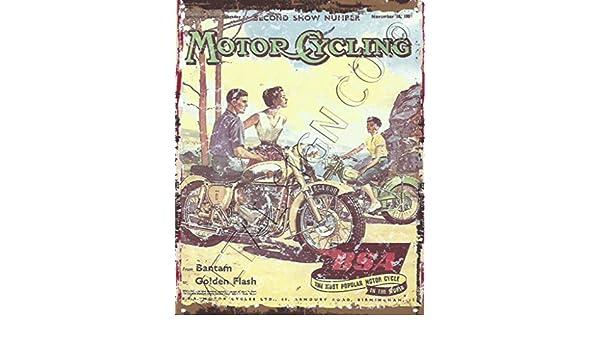 BSA Bantam - oro flash Motor Ciclo garaje Metal Sign Retro ...
