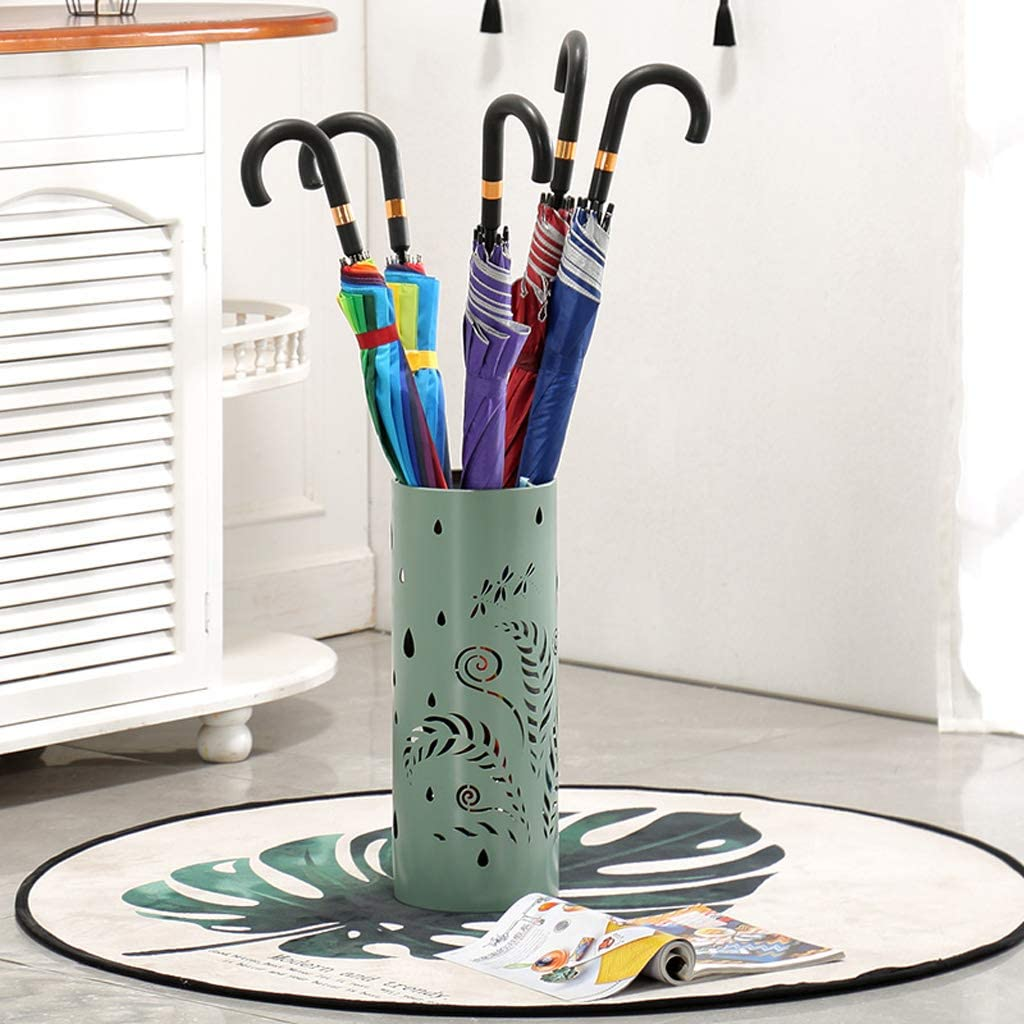 HLJ Creative Hollow Out Umbrella Bucket Fashion Home Umbrella Placed Bucket Jane European Iron Umbrella Stand