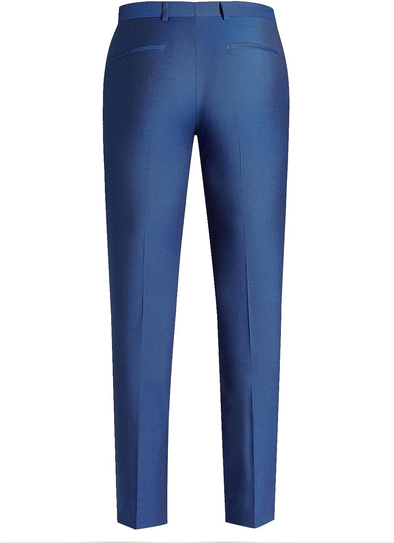 HBDesign Men 2 Piece 2 Button Notch Lapel Slim Fit Fashion Formal Tux