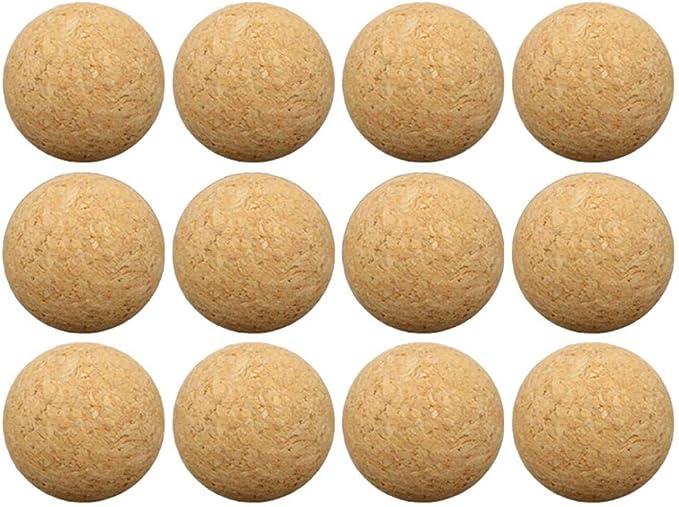 Brownrolly Bolas de reemplazo de futbolín de futbolín de Deportes, 12 Paquetes de Bolas de Juegos de Mesa de Corcho, 36 mm de Madera de Escritorio de Madera: Amazon.es: Hogar