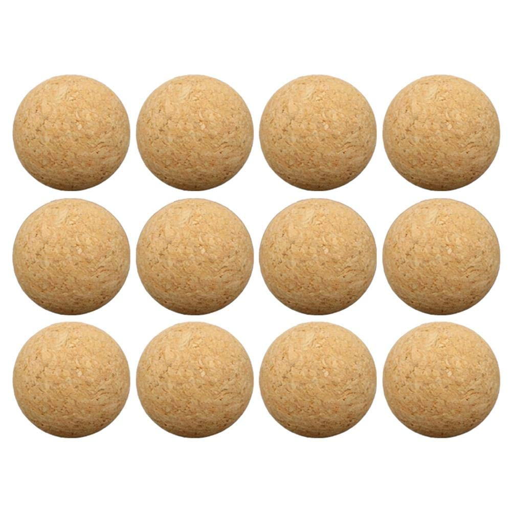 36 mm de Madera de Escritorio de Madera 12 Paquetes de Bolas de Juegos de Mesa de Corcho Brownrolly Bolas de reemplazo de futbol/ín de futbol/ín de Deportes