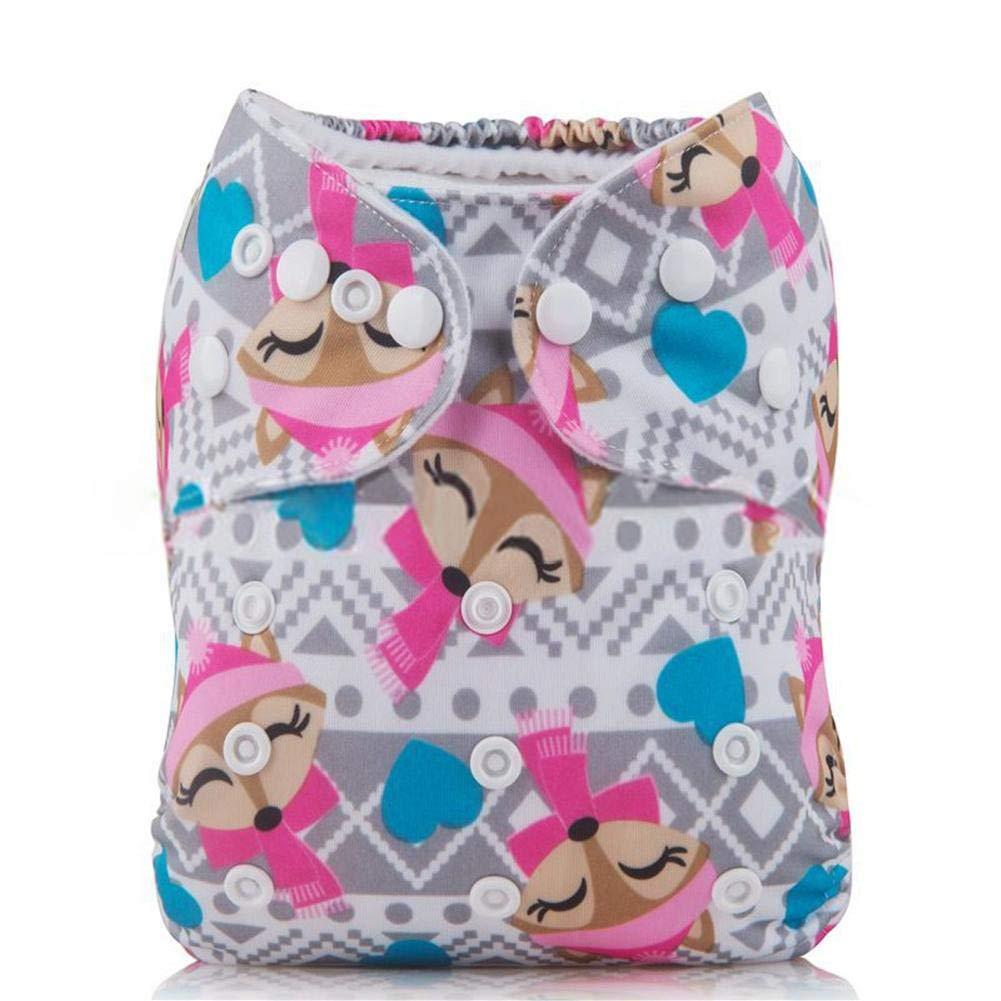 Culotte de protection pour bébé en tissu à double couche Réutilisable pour garçon ou fille Motif bonbons Taille réglable Avec bouton-pression Cathy02Marshall