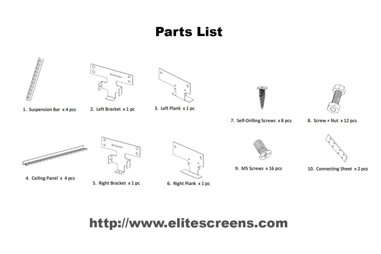 Amazon.com: Elite Screens Universal Ceiling Trim Kit for Concealed ...