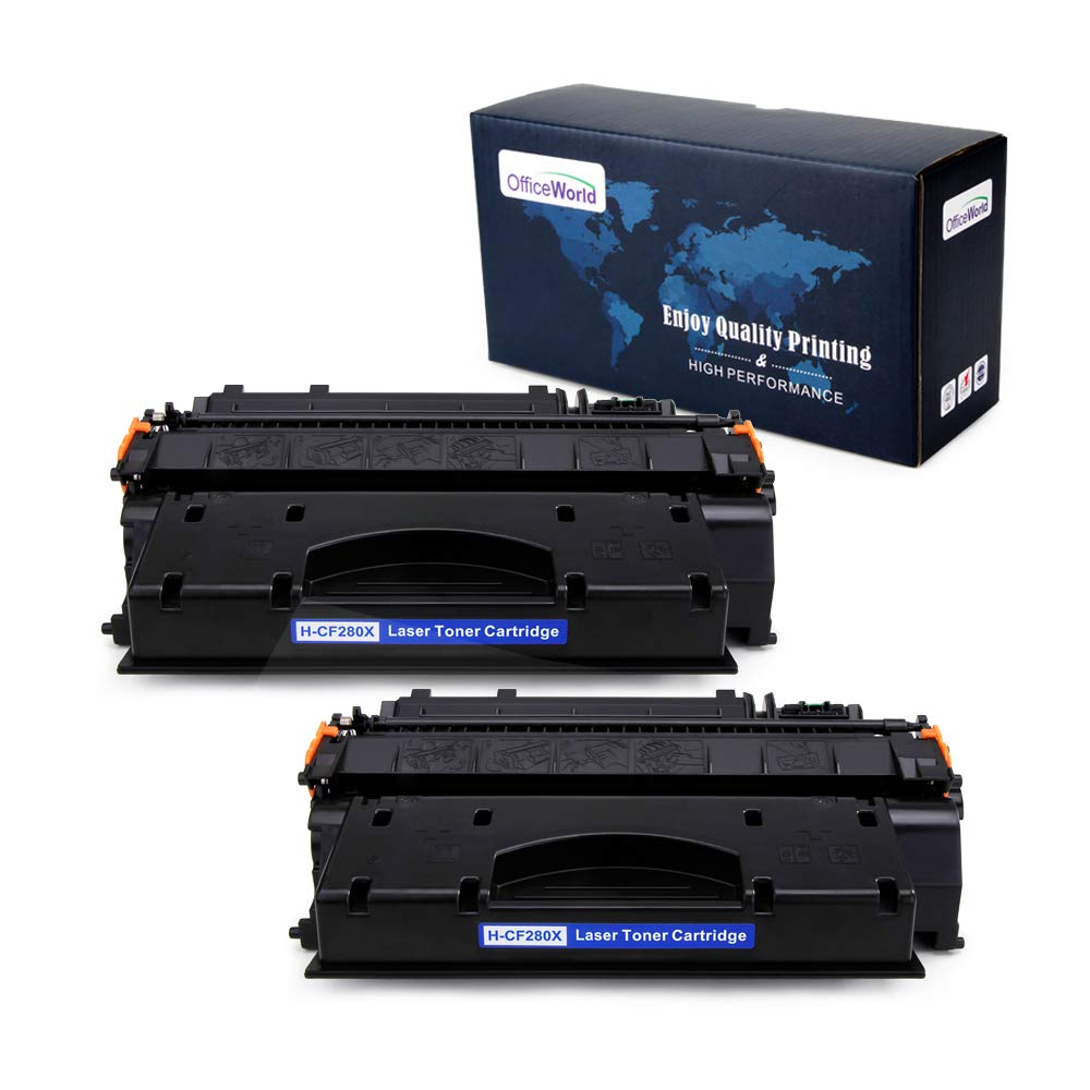 Office World Compatible Toner Cartridge Replacement for HP 80X CF280X (Black, 2-Packs), Work with Laserjet Pro 400 M401n M401dne M425dn
