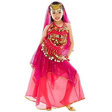 2036a26f0 Xinwcang Kids Children Belly Dance Costumes for Girls Top with ...