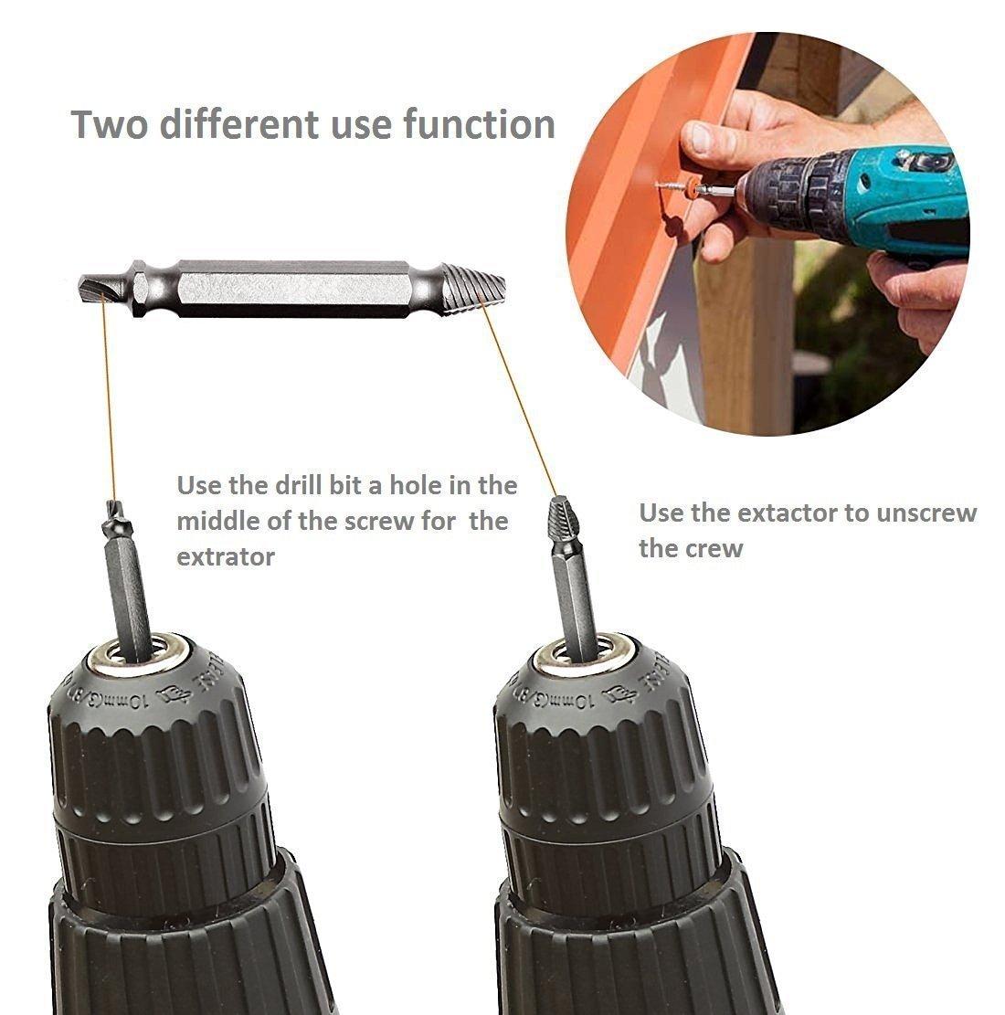 4 pi/èces YOEEKU Haute vitesse vis en acier extracteur