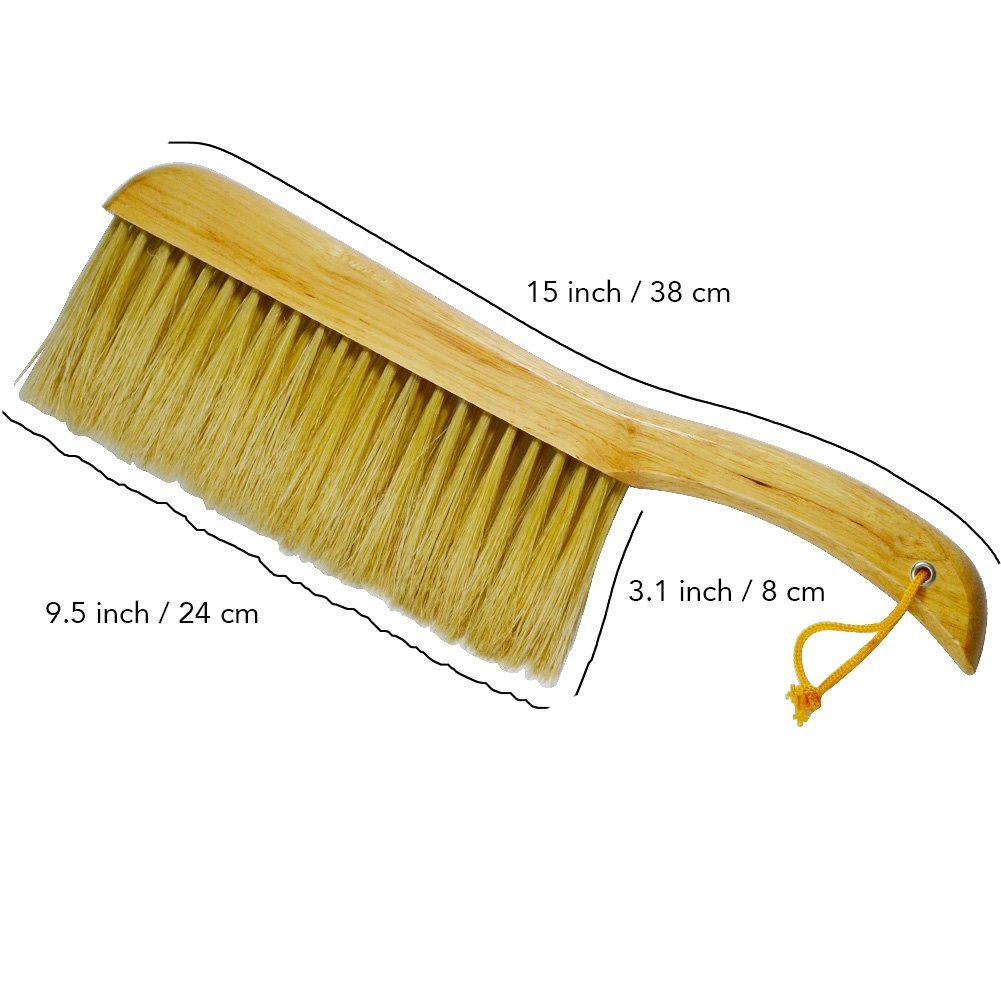 Laxhand Counter Duster Brush of Wood Handle, Soft Bristle Pet Hair Cleaning Brush for Bed Sheets, Sofa, Keyboard, Leather Clothes, Car by Laxhand (Image #2)