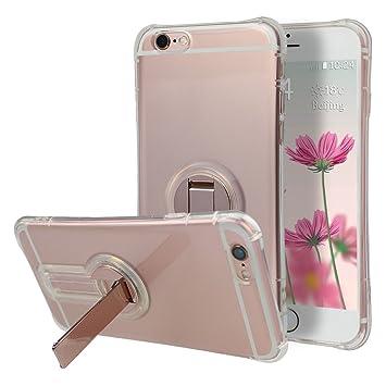 Móvil iPhone 6S 4.7 Pulgadas, iPhone 6 Carcasa rígida, Moon Mood® Funda con soporte atril Soporte móvil para Apple iPhone 6/6s transparente Teléfono ...