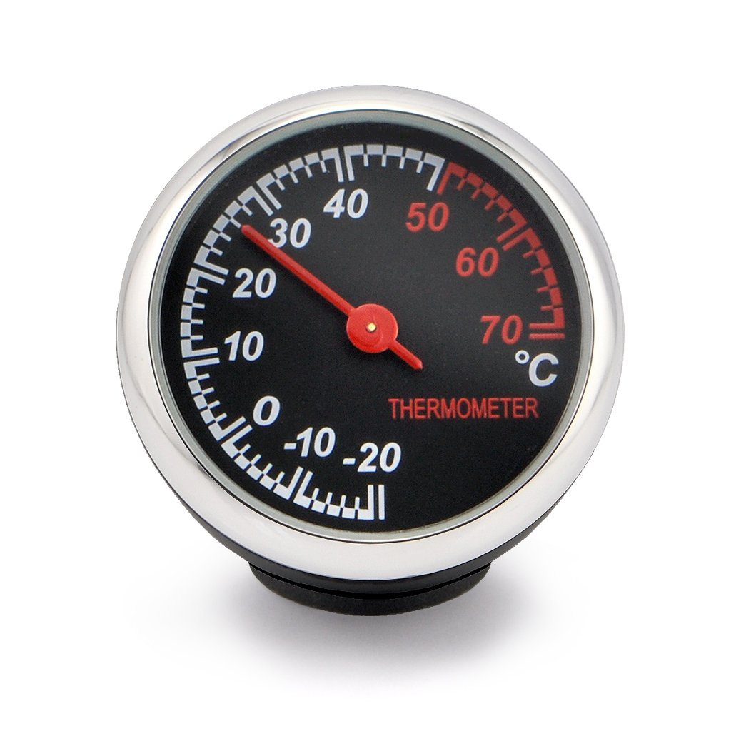OLLGEN Car Auto Thermometer,Vehicle Dashboard Thermometer,Mini Classic High Accuracy Thermometer,Cool Decoration Helpful Third Hand in Car