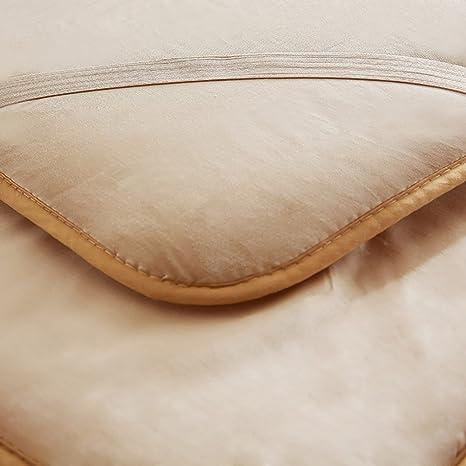 DULPLAY 100% conton Primeros del colchón, De algodón Abajo Cómodo Antideslizante Cubierta de Cama Plegable Microfibra Cojines de colchón Protectores -B ...