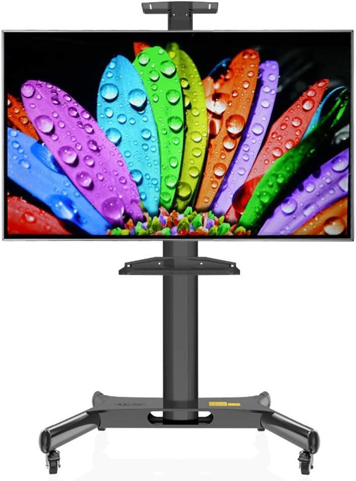 Jsmhh TV Compras, Carretilla de Soporte del Piso de Pantalla Plana de 32-60 Pulgadas, LED, LCD, OLED, TV de Plasma - Universal del balanceo Soportes for TV de la Sala de Estar,