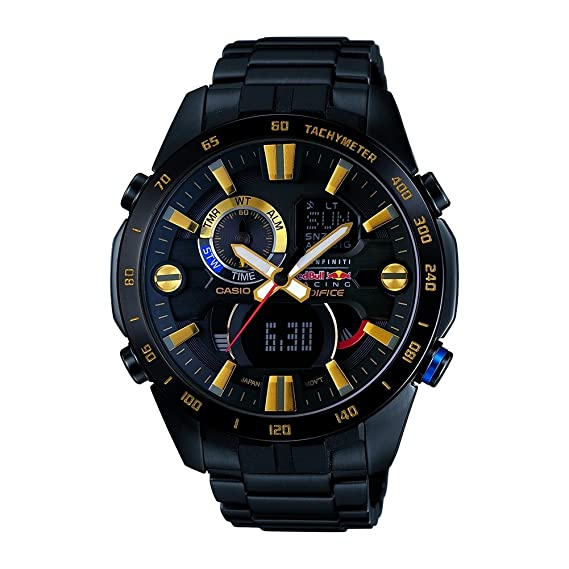 1bf94a8522ee Casio Edifice Infiniti Red Bull ERA-201RBK-1AER Cronógrafo para hombres  Edición Muy Limitada  Amazon.es  Relojes