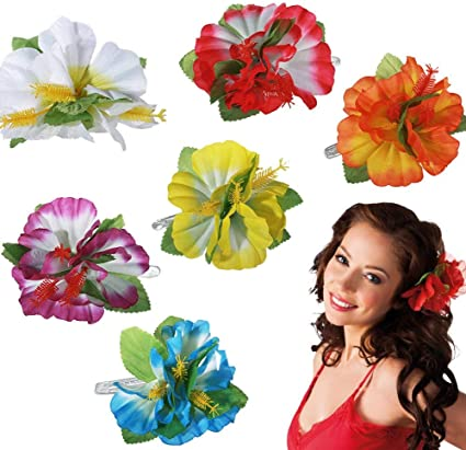 Gshy - Pinza para el pelo, diseño de flor hawaiana, para mujer ...