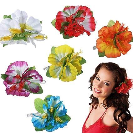 Gshy - Pinza para el pelo, diseño de flor hawaiana, para ...