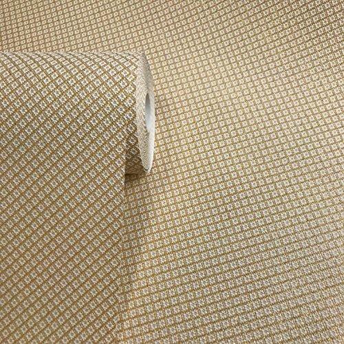 86 sq.ft rolls 15m Slavyanski modern vinyl wallpaper white ivory gold metallic plain small diamonds coverings textured pattern long 50 feet roll wallcoverings wall paper textures washable strippable ()