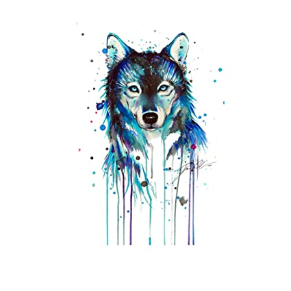 2f3e075bbf2f DIY Clothes T-Shirt Patches Stickers Ironing on Heat Transfer A-Level  Washable Iron-on Stickers (Wolf)