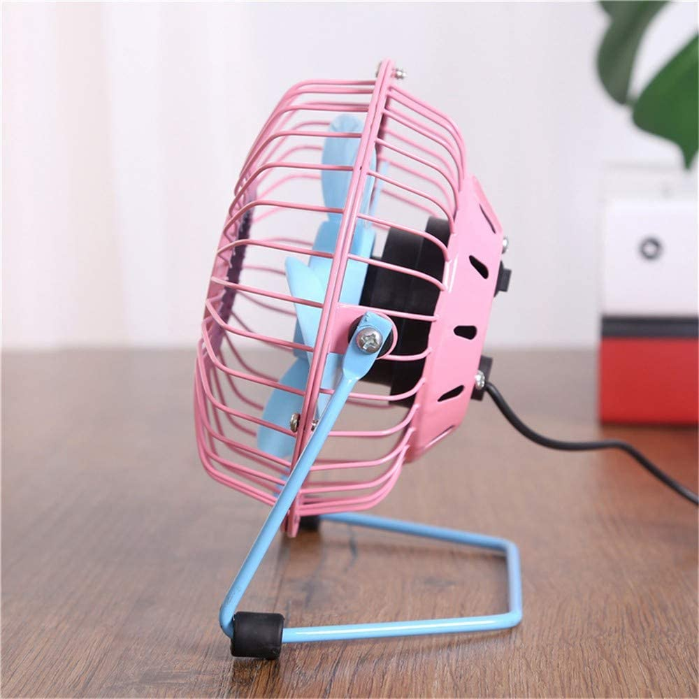 ZQ Mini USB Table Desk Fan USB-Powered Desktop Fan Portable Cooling Solution Quiet for Home Office Car Travel,C
