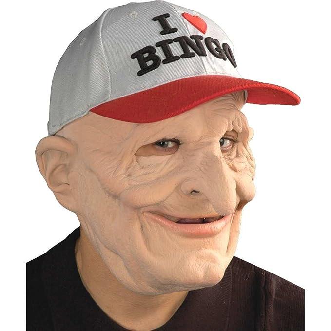 Máscara de abuelo binguero de látex