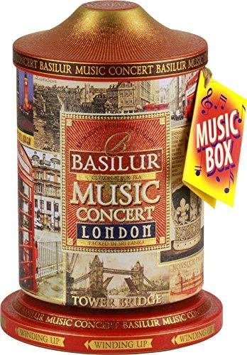 Basilur | London Music Tin | Music Concert Collection | Pure Ceylon Black Tea with amaranth, cornflower, bergamot and chocolate | Metal Caddy | 20 Pyramid Tea Bags | Gift of Tea | Pack of 1