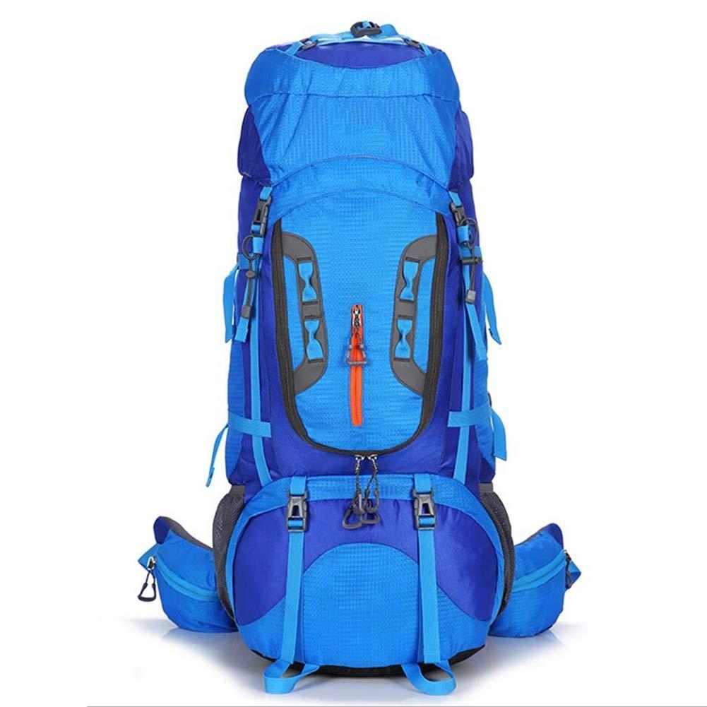 ハイキングバックパック - 80L登山バッグ、男性と女性のための屋外の多目的旅行ハイキングバッグ、防水性と耐摩耗性のバックパック B07PHYZMP4 Light blue 36*32*83cm