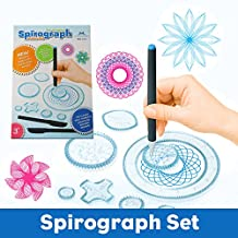 MC CHENMEI Spirograph Deluxe Set with Spirograph Coloring Book & Pen Kit Spirograph Artist Set For Adults and Kids
