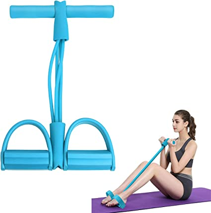 Foot Pedal Tube Pull Rope Resistance Band Yoga Exercise Sit up Fitness Equipment