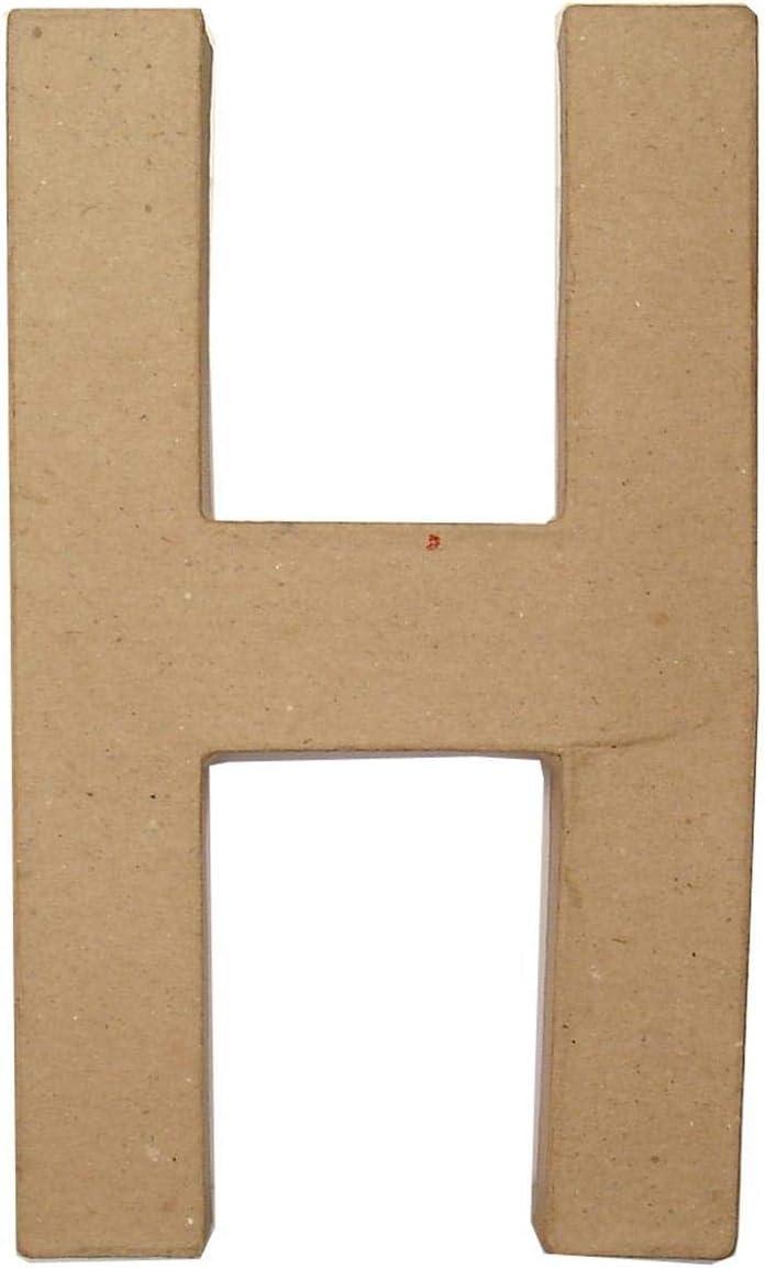 Craft Ped Paper CPL1006251-A.K Mache Letter A Kraft 8