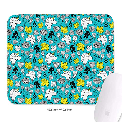 The Number of Horns on a Unicorn mat Mouse Smooth Mouse Pad Non-Slip Rubber Base Mousepad -