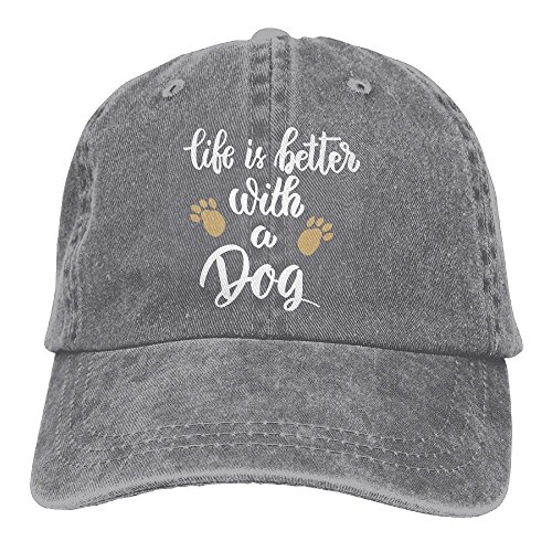 (FUNINDIY Life is Better with A Dog Vintage Jeans Baseball Cap for Men and Women)