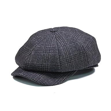 3beb12c5c15 UCTOP STORE Men Vintage Wool Gird Beret Hat Winter Warm Gentleman ...