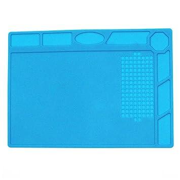 UKCOCO silicona para soldadura antiestática hitzebeständige aislamiento Repair Pad (Azul): Amazon.es: Electrónica