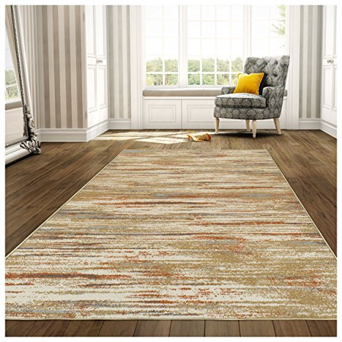 Runner Rug Linen Area (Superior 6mm Pile Height with Jute Backing, Durable, Fashionable and Easy Maintenance, Ashford Collection Area Rug, 2'7 x 8' Runner - Rust)