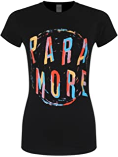 Paramore Unisex-Adults Official Painting Spiral T Shirt (Black)