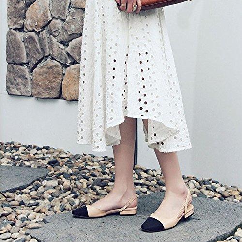 Bold EU38 Chaussures Sandales Parfumé Vent Petites Shoes High Parfumé Et Baotou Sandales Heel Des Femmes Petit Stitching SHOESHAOGE Avec FUaxTwIUq