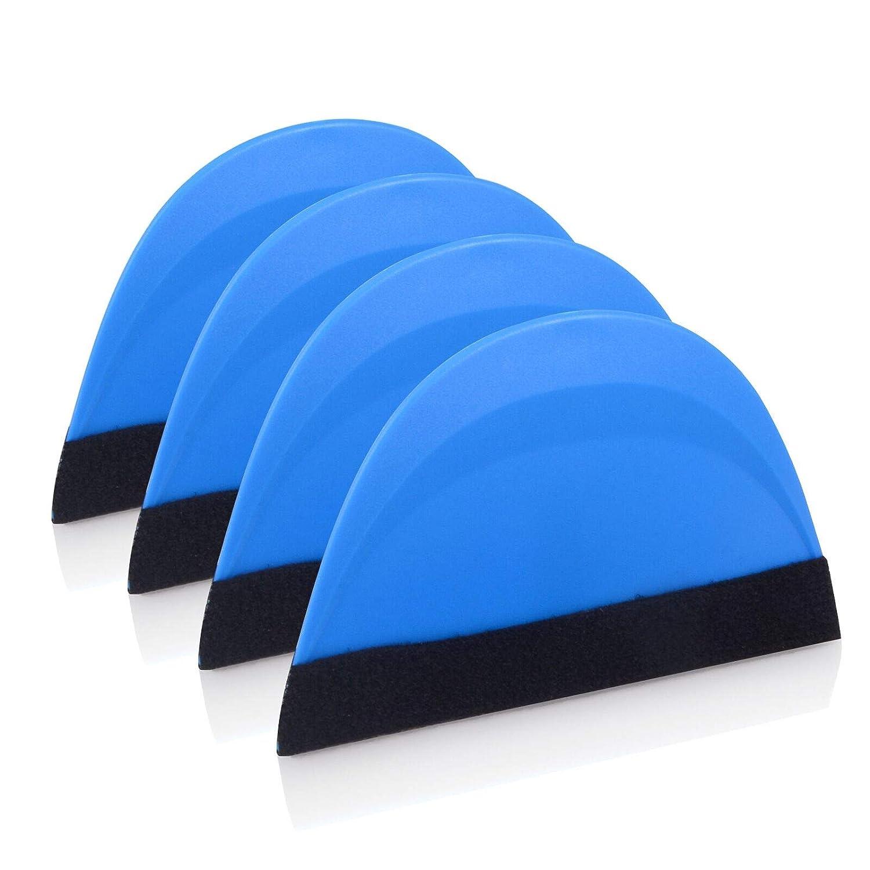 Winjun 4 St/ück Rakel mit Filzkante Folienrakel Filzrakel Weiche Material f/ür Folie Autofolie T/önungsfolie Wandtattoo Fliesenaufkleber Installation Werkzeug 13x8cm Blau
