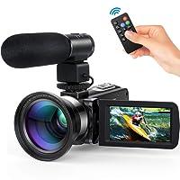 Andoer Caméscope Numerique 1080P Vision Nocturne Infrarouge Full HD 30FPS, 24MP Appareil Photo Caméra Vidéo Numérique Ecran IPS 3.0 Pouces 16X Zoom (4)