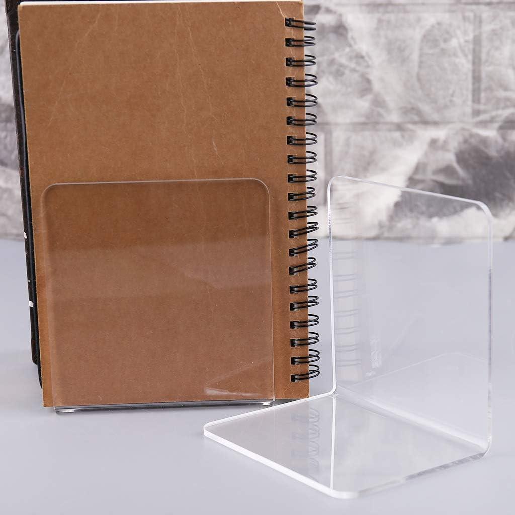 Trasparente Fermalibri Decorativi Only Confezione da 4 in Acrilico