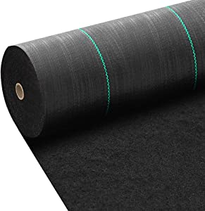 Amagabeli 5.8oz 4ft x 300ft Weed Barrier Landscape Fabric Heavy Duty Ground Cover Weed Cloth Geotextile Fabric Durable Driveway Cover Garden Lawn Fabric Outdoor Weed Mat