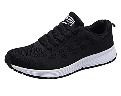 Ladies Trainers Sneakers Women Mesh Walking Running Shoes Lightweight Breathable Lace Up Athletic Gym Sport Shoes