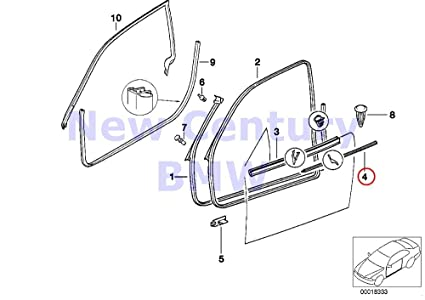 Amazon Com Bmw Genuine Door Weatherstrip Front Right Outer