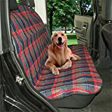 Uniflow In Dog Hammock Waterproof Car Back Seat Cover Blanket NonSlip protector With Seatbelt Hole Green Convertible 70'' 56'' inch For Truck SUV Machine Washable