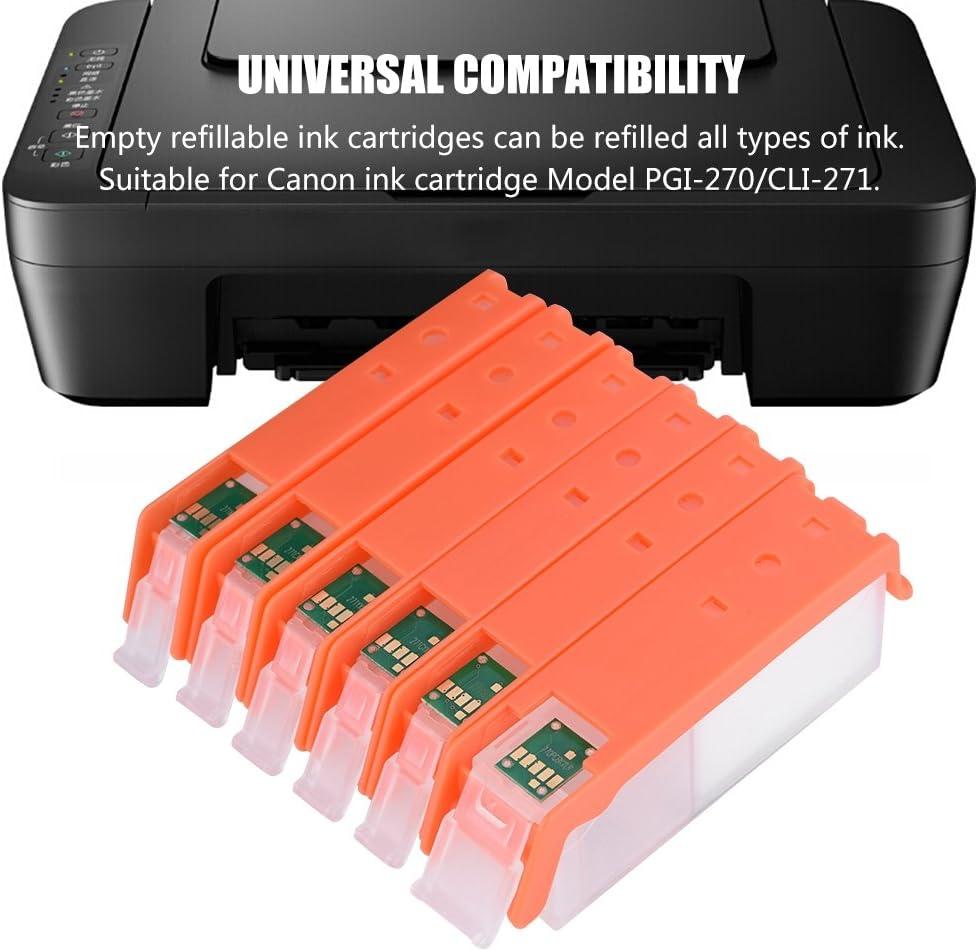 Amazon.com: ASHATA - Cartucho de tinta recargable universal ...
