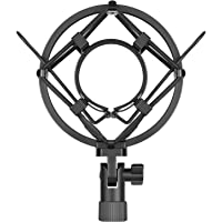 Neewer Black Universal Microphone Shock Mount Holder Clip Anti Vibration Suspension High Isolation with for Studio Condenser Mic, Idea for Radio Broadcasting Studio, Voice-over Sound Studio and Recording