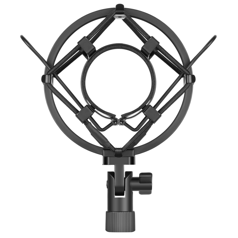Neewer Universal 45MM Microphone Shock Mount for 43MM-46MM Diameter Condenser Mic (Black)