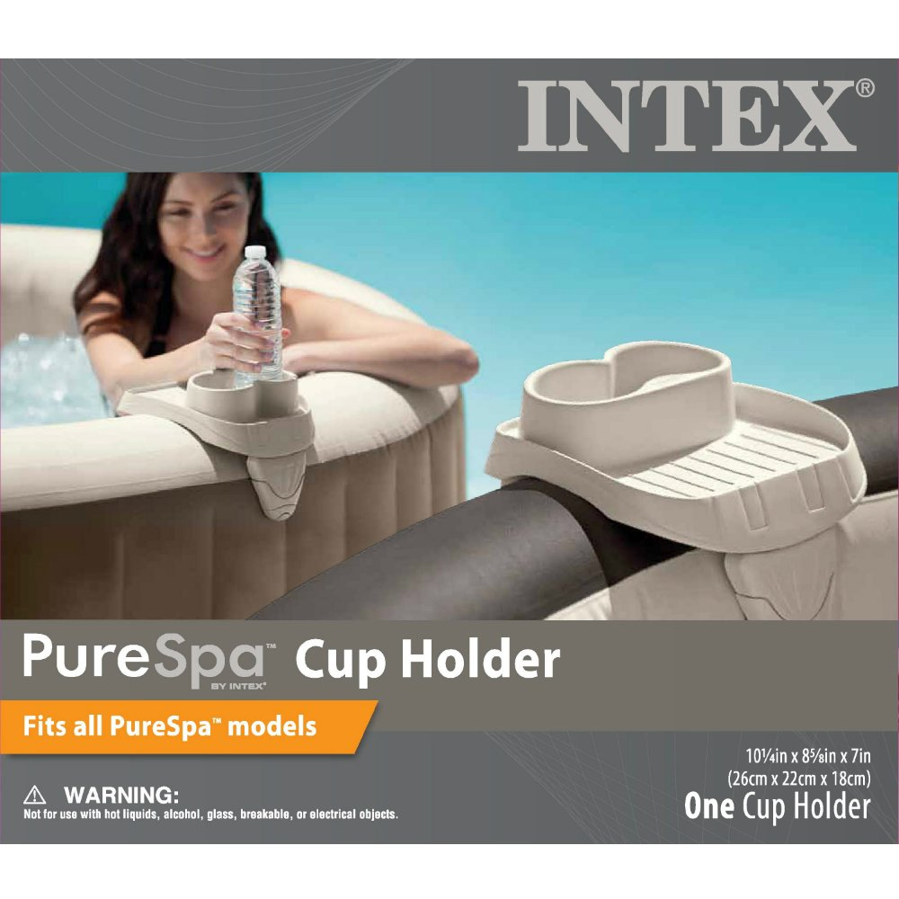 Amazon.com : Intex PureSpa Cup Holder, 2 Standard Size Beverage ...