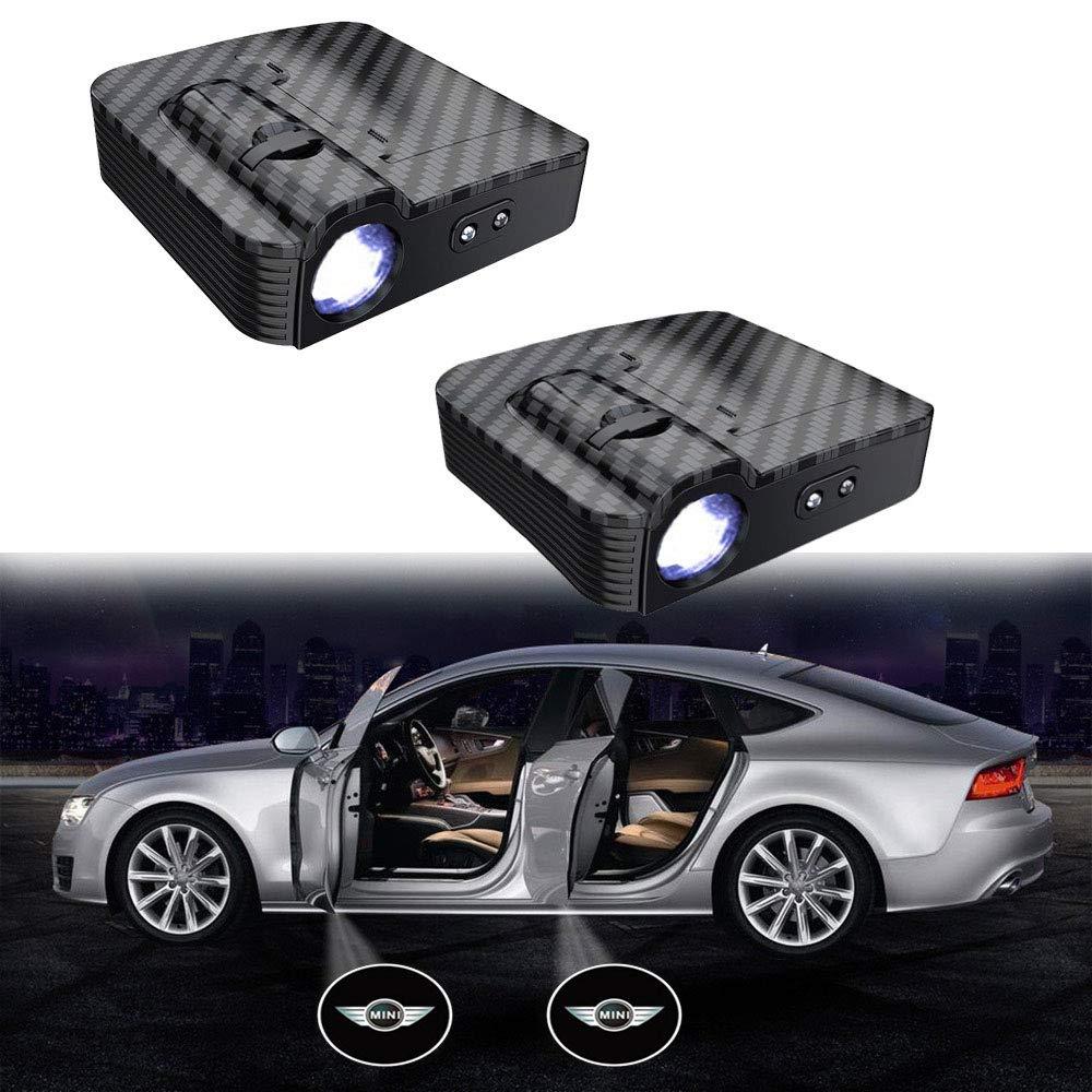 MIVISO Upgrade auto porta led logo proiettore luce nessun magnete lampada wireless benvenuto ombra fantasma luce 2 pezzi accetta logo personalizzato